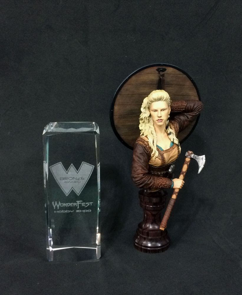 a bronze lagertha