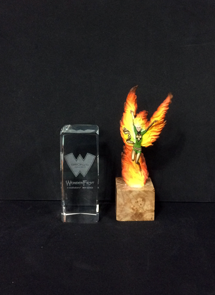 a bronze phoenix